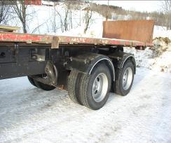 Maskinflak 6 x 2,5 meter med lastelem.